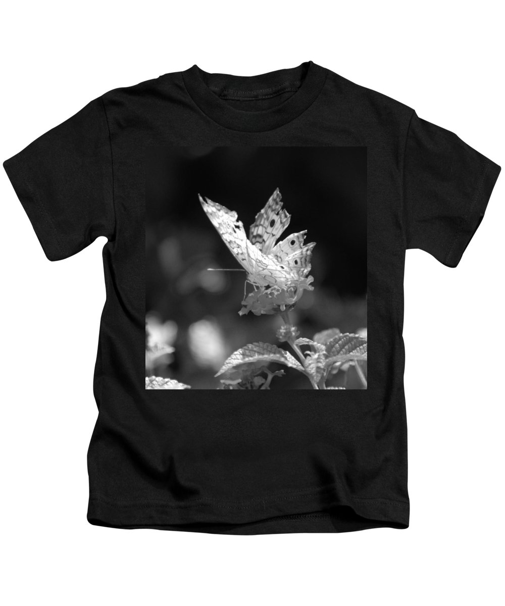 Lepidopterology Kids T-Shirt featuring the photograph Cracked Wing by Rob Hans