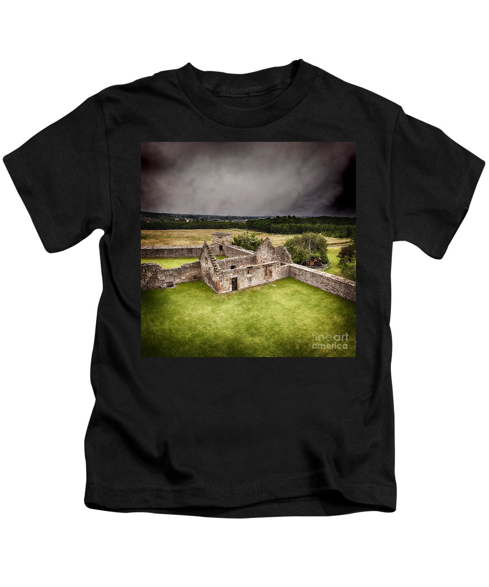 Dramatic Kids T-Shirt featuring the photograph Craigmillar Castle Ruins by Sophie McAulay