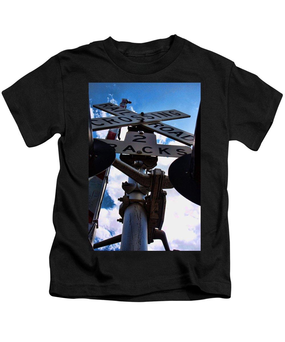 Railroad Kids T-Shirt featuring the photograph Crossing Guard by David Sanchez