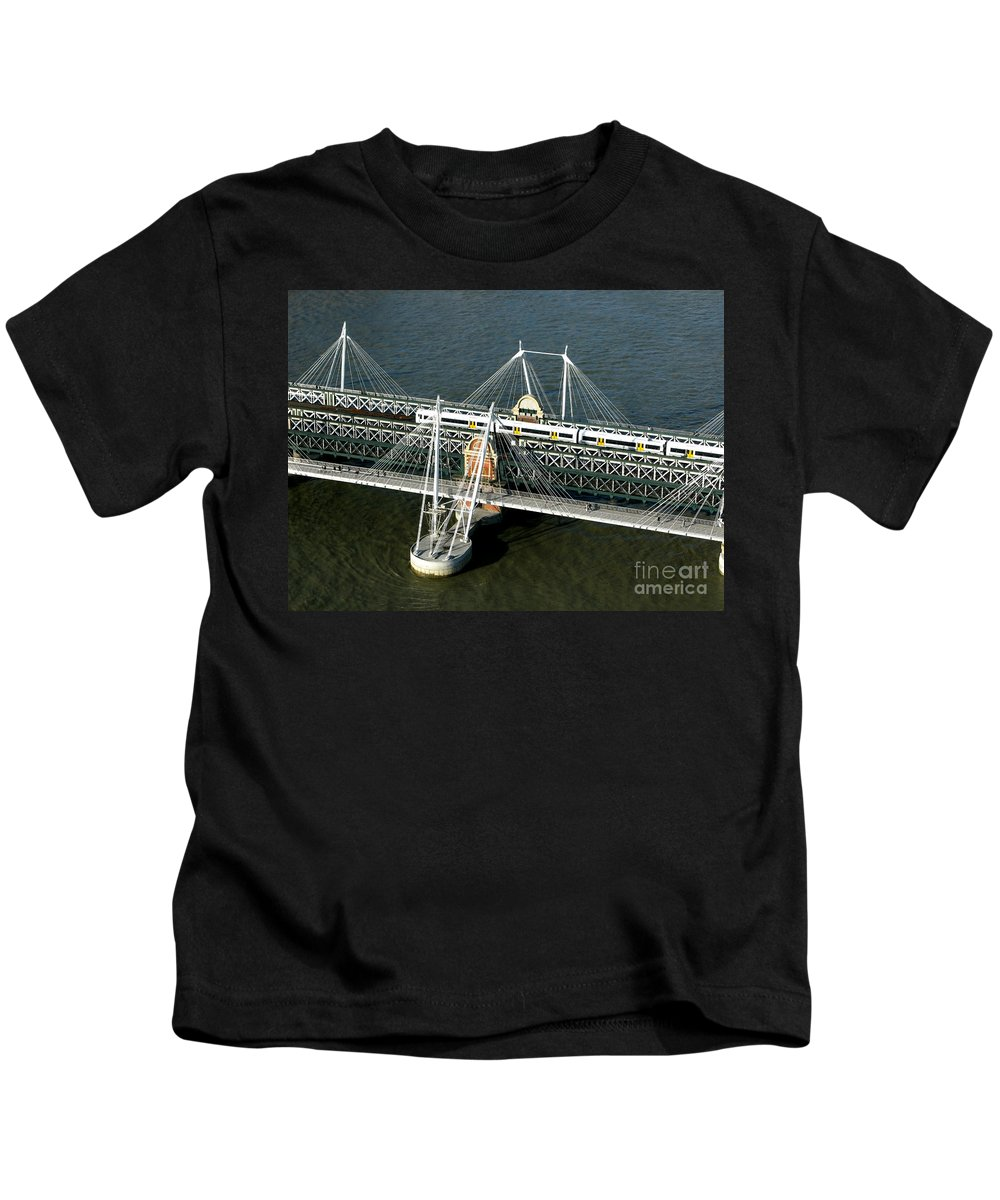 London Kids T-Shirt featuring the photograph Crossing The Thames by Ann Horn