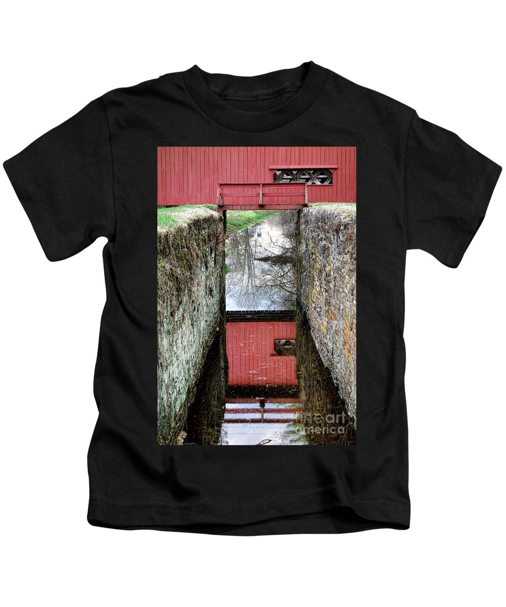 Uhlerstown Kids T-Shirt featuring the photograph Crossings by Olivier Le Queinec