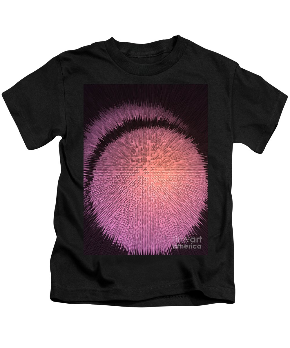 Pink Kids T-Shirt featuring the digital art Crystal Growth Burst by Pharris Art