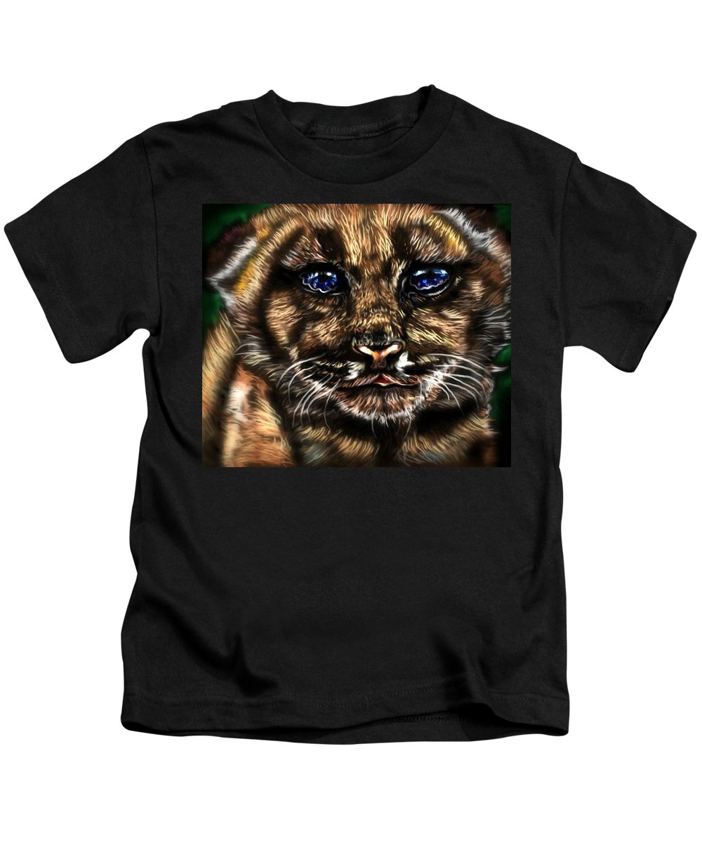 Cat Kids T-Shirt featuring the painting Cub Scout by Herbert Renard