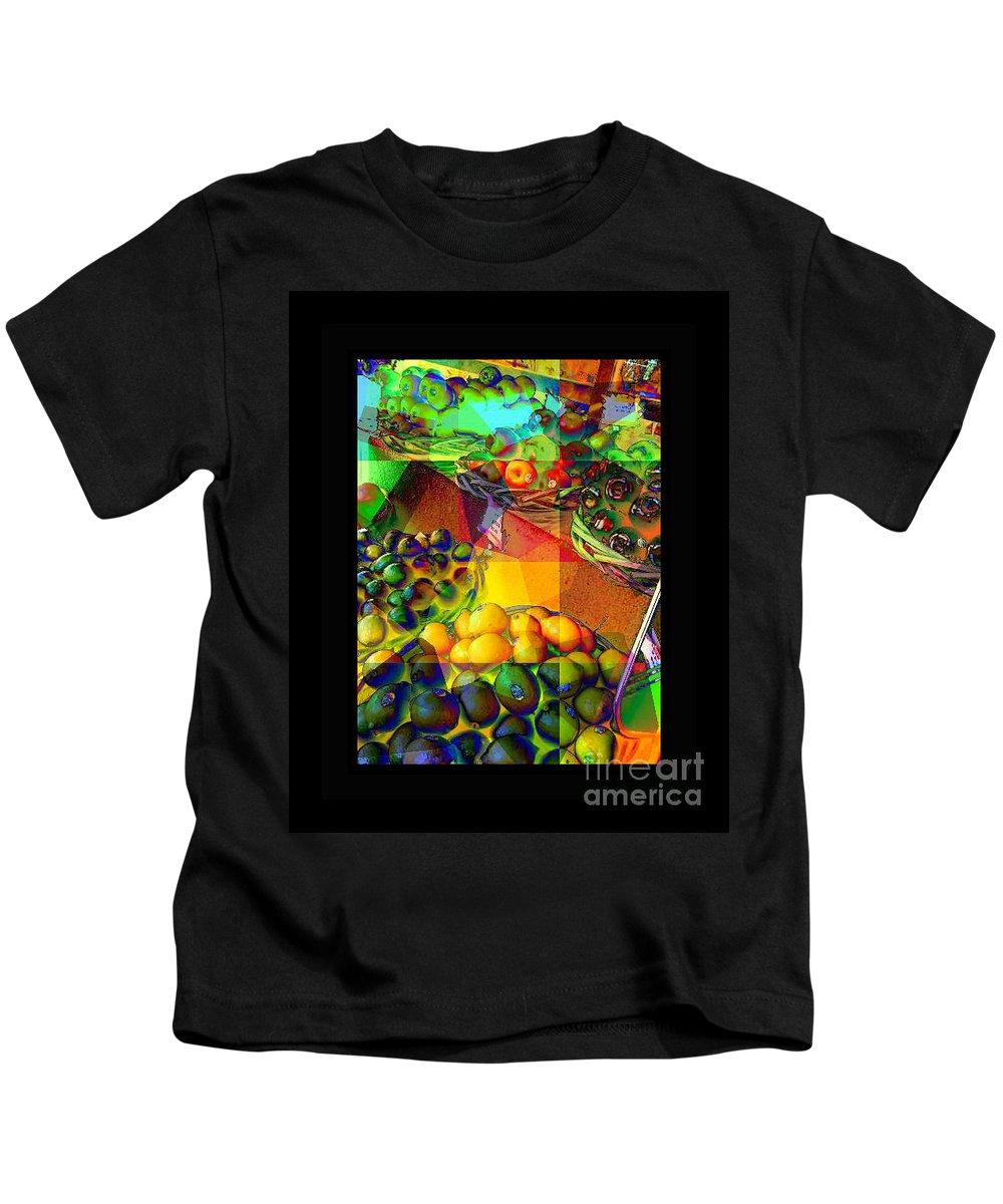 Street Vendor Kids T-Shirt featuring the photograph Fruit Collage Mini-print by Miriam Danar