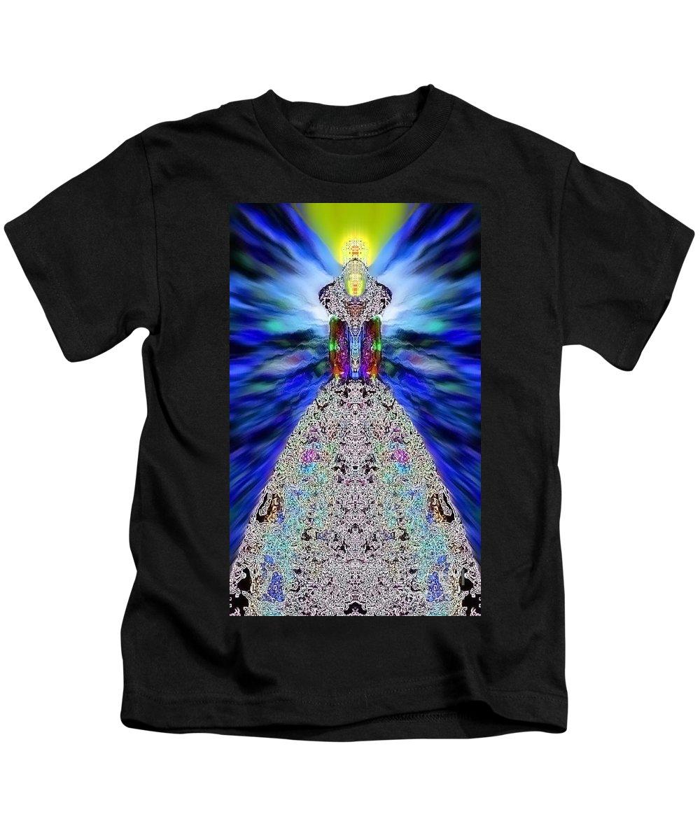 Angel Kids T-Shirt featuring the digital art Dagymiel by Raymel Garcia