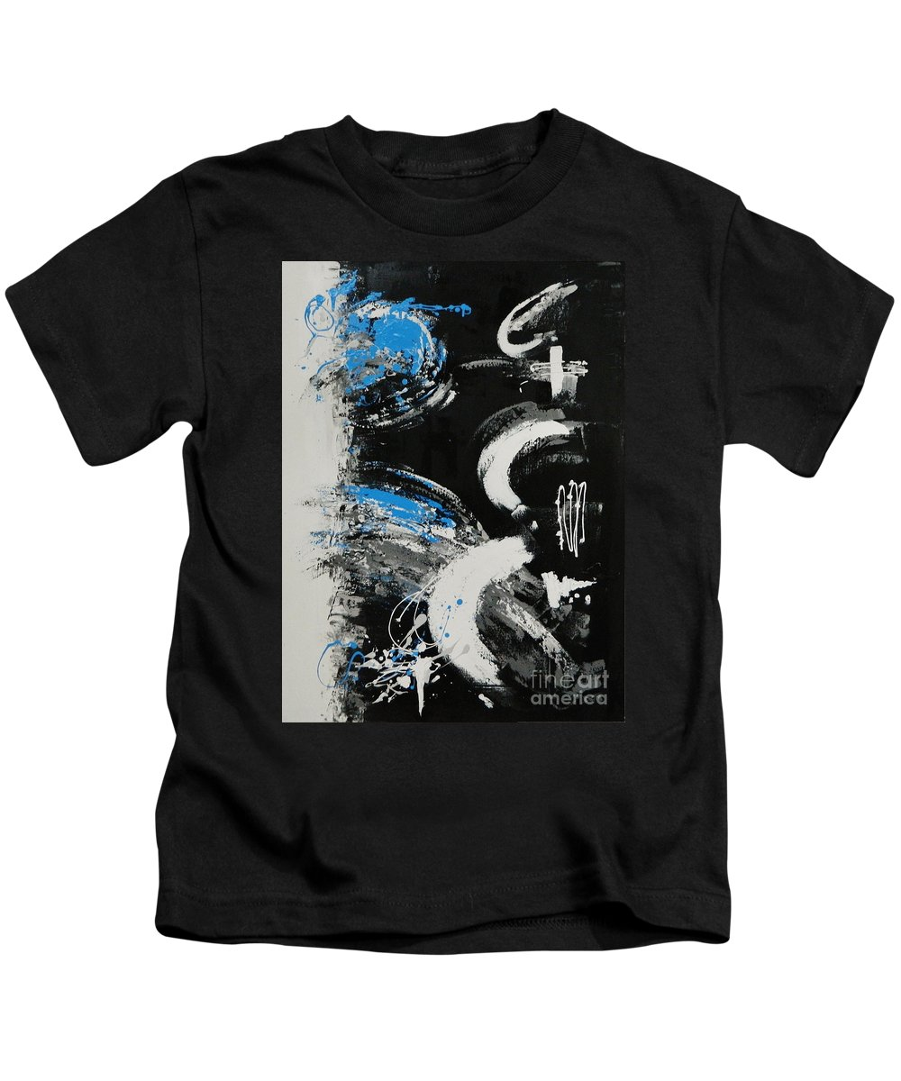 Guitar Kids T-Shirt featuring the painting Dance Along The Light Of Day by Dan Campbell