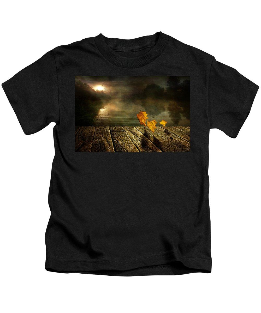 Art Kids T-Shirt featuring the photograph Dance To The Sun by Veikko Suikkanen