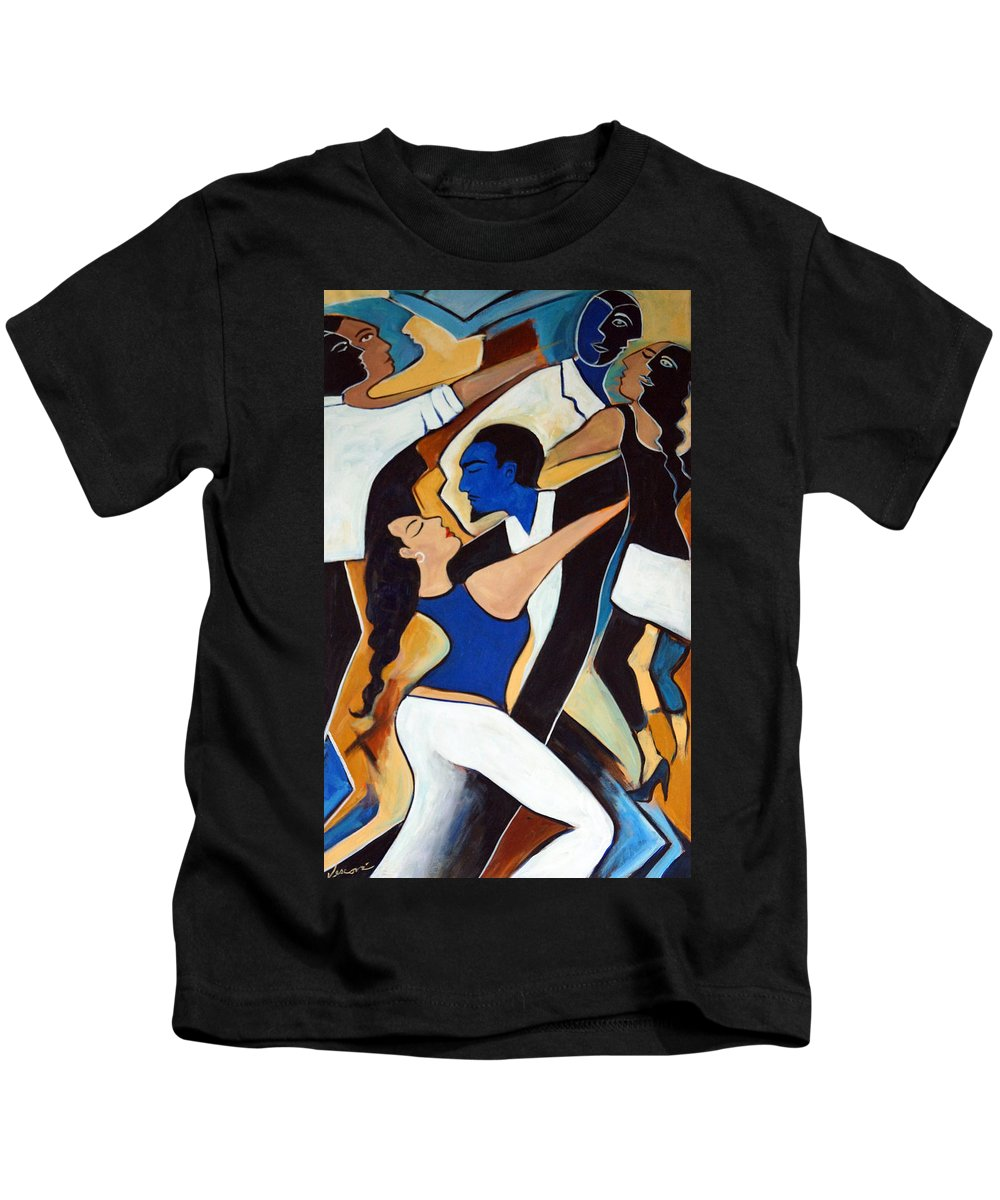 Tango Kids T-Shirt featuring the painting Dance With Me by Valerie Vescovi