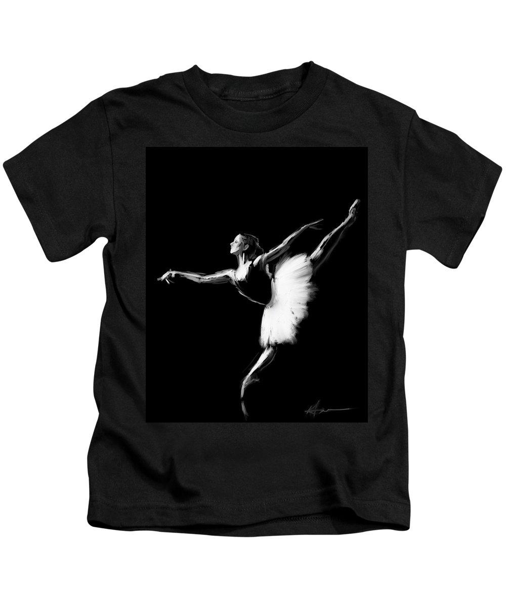 Ballet Kids T-Shirt featuring the digital art Dancer by H James Hoff