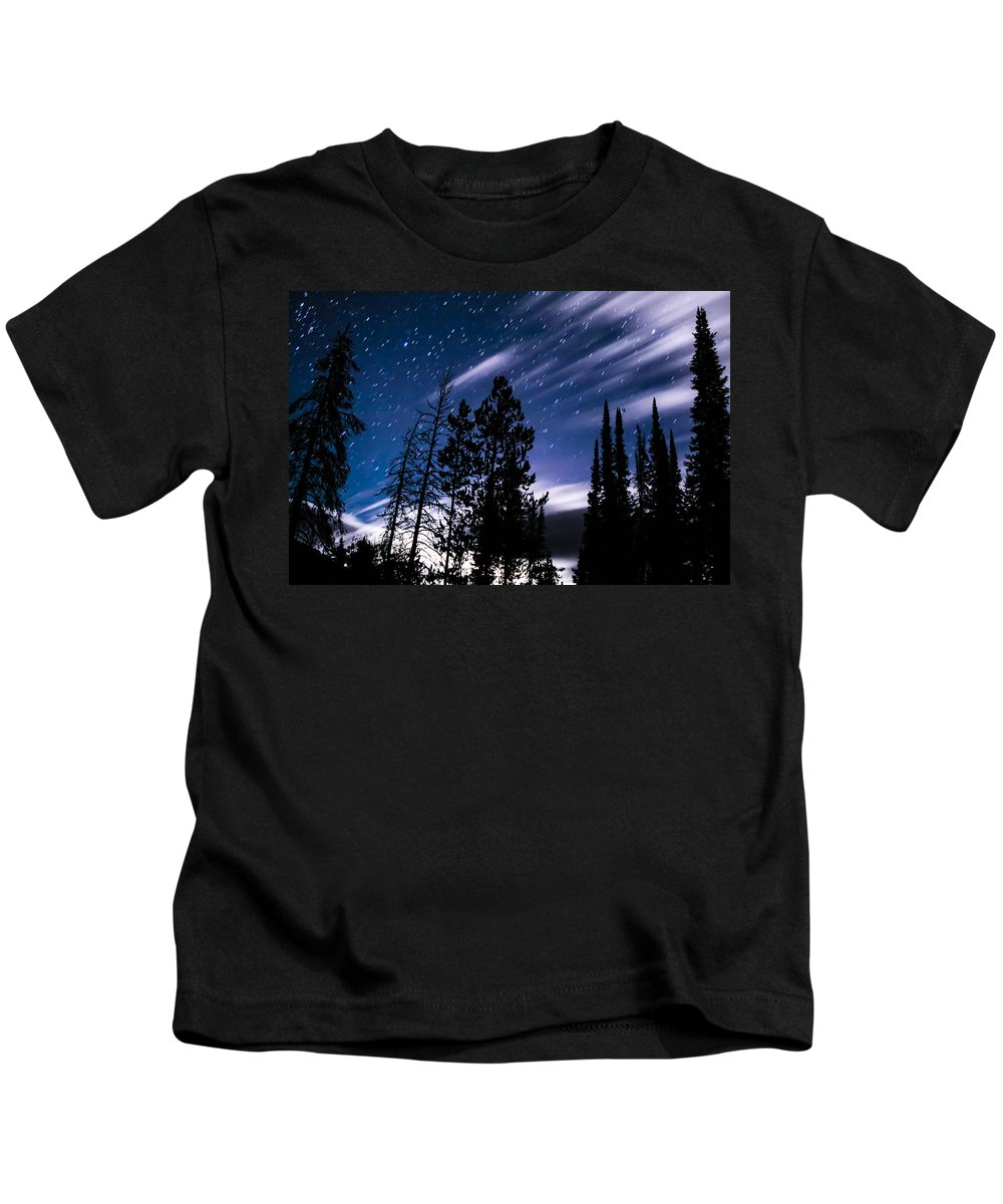 Gigimarie Kids T-Shirt featuring the photograph Darkness At Ledgefork by Gina Herbert