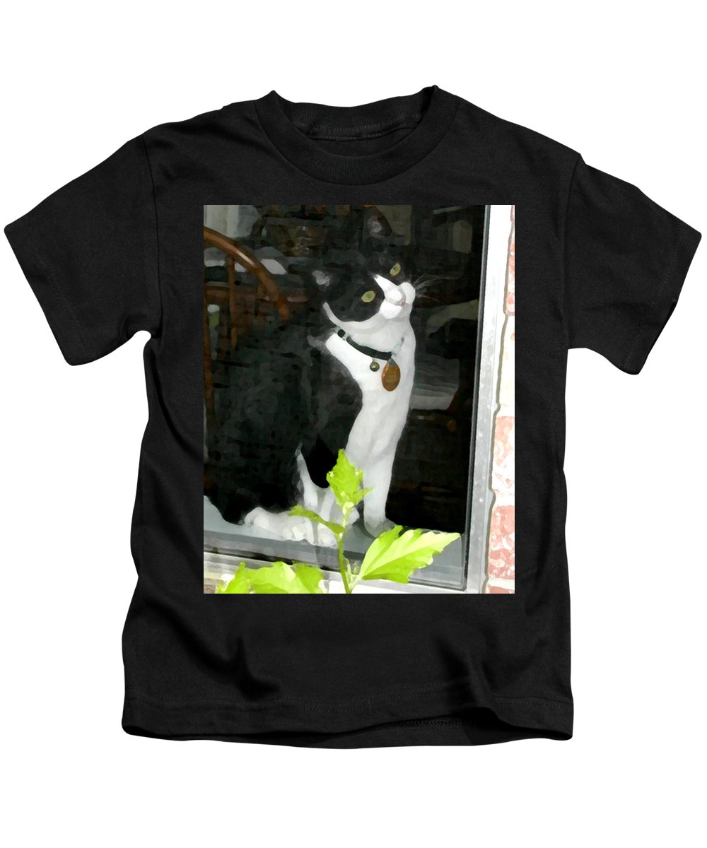 Black And White Kids T-Shirt featuring the photograph Day For Dreaming by Jeanne A Martin