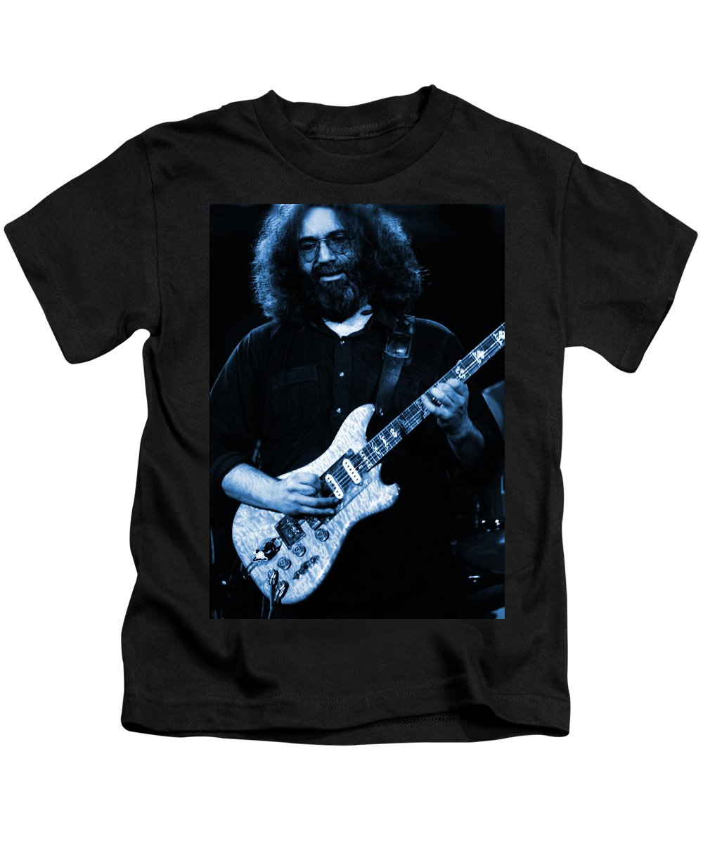Jerry Garcia Kids T-Shirt featuring the photograph Dead #1 Blue by Ben Upham