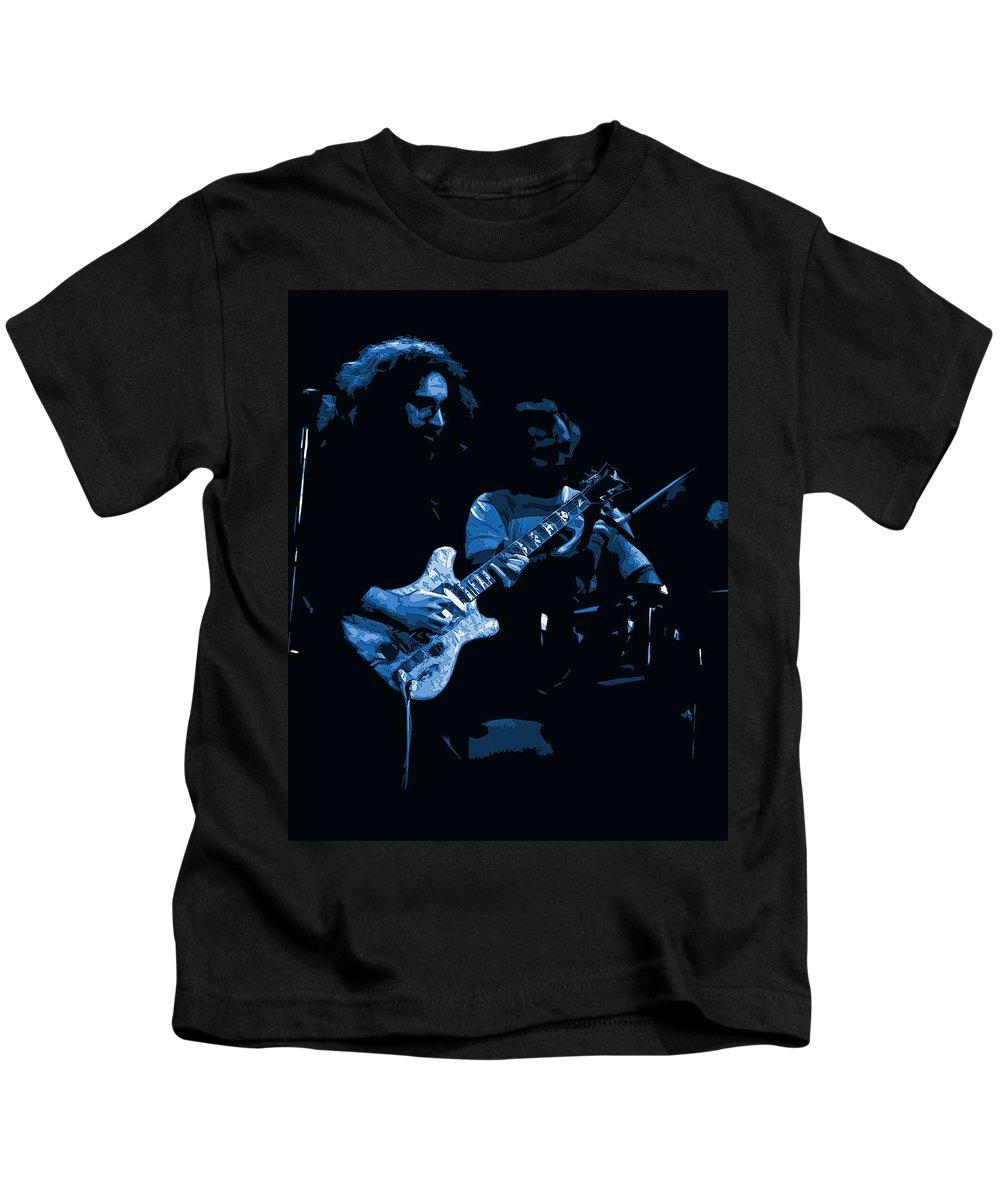 Grateful Dead Kids T-Shirt featuring the photograph Dead #19 Art In Blue by Ben Upham