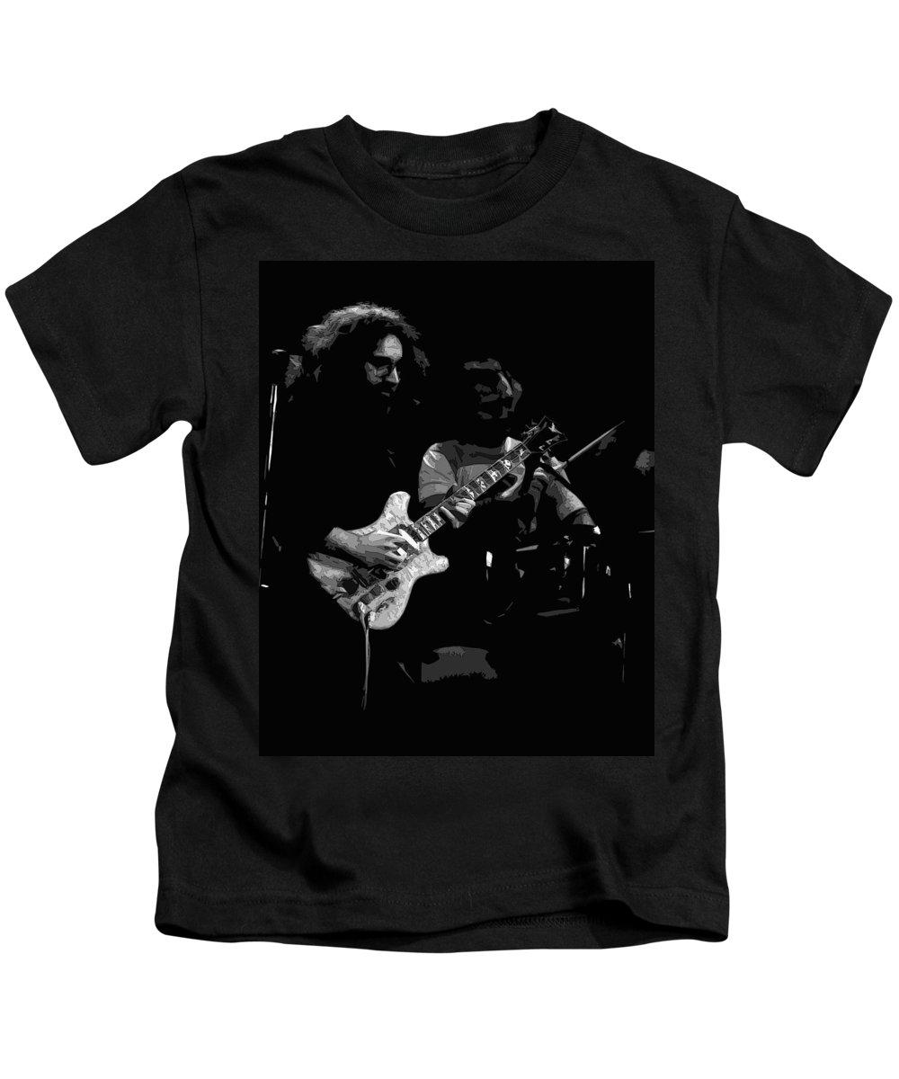 Grateful Dead Kids T-Shirt featuring the photograph Dead #19 Bw Art by Ben Upham