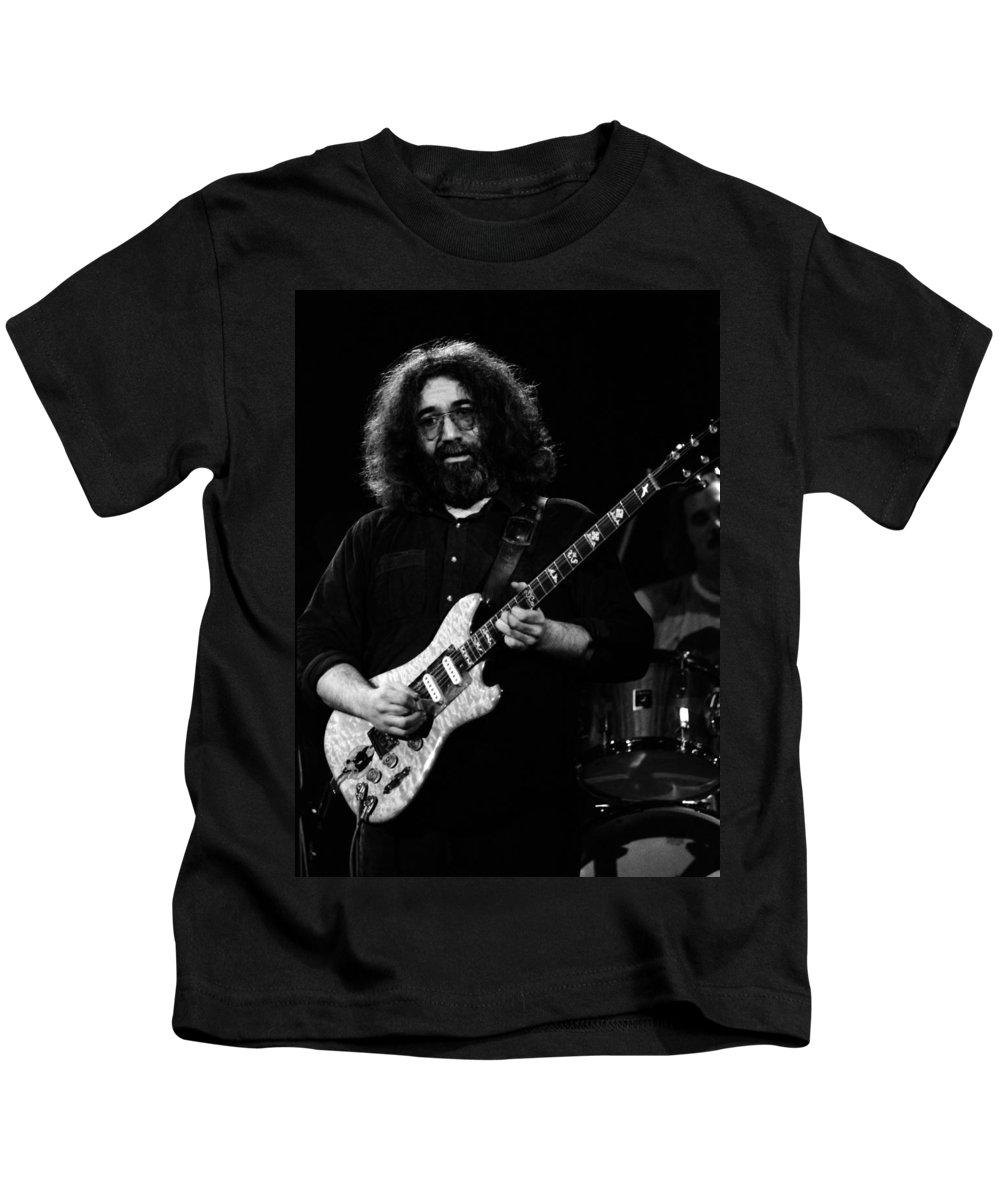 Jerry Garcia Kids T-Shirt featuring the photograph Dead #2 Crop A by Ben Upham