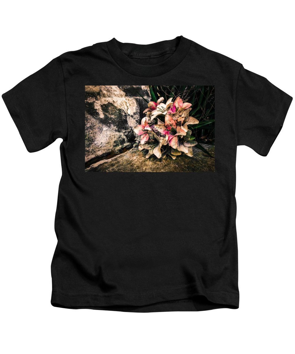Nawlins Kids T-Shirt featuring the photograph Decayed Pink by Melinda Ledsome