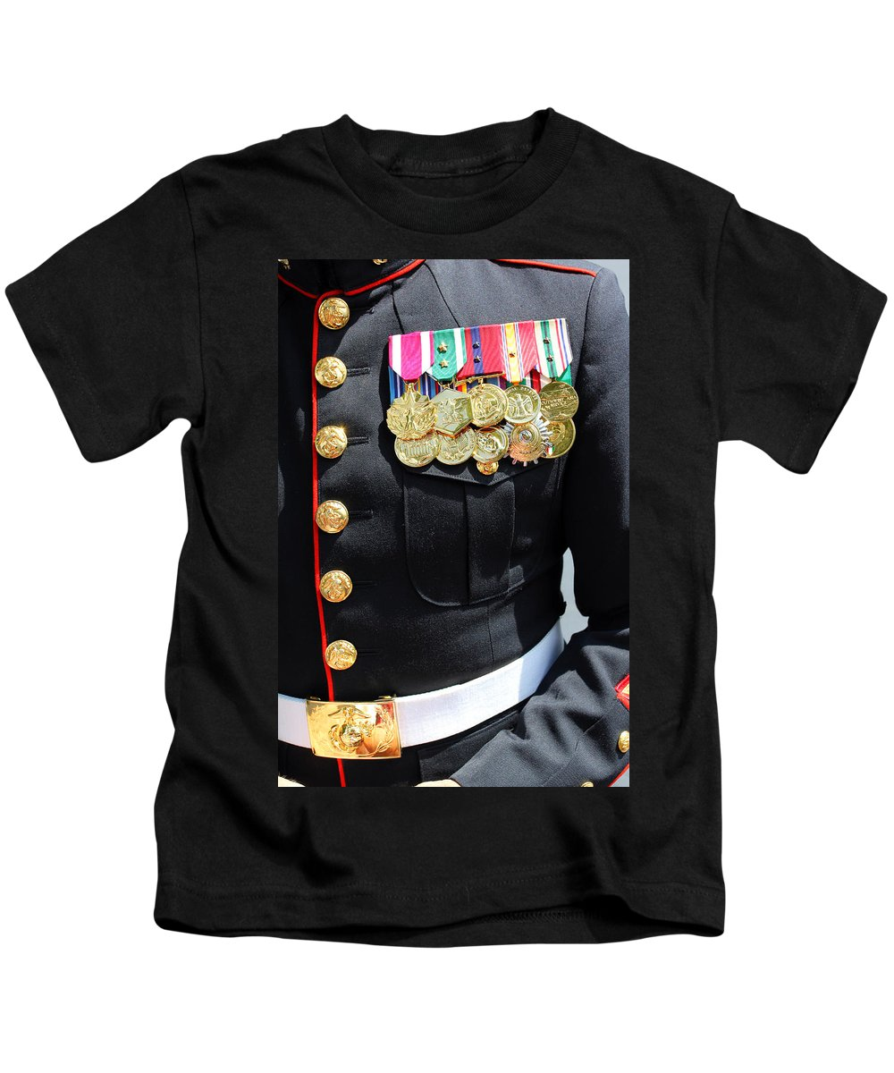 Military Kids T-Shirt featuring the photograph Decked Out In Courage by Jennifer Robin