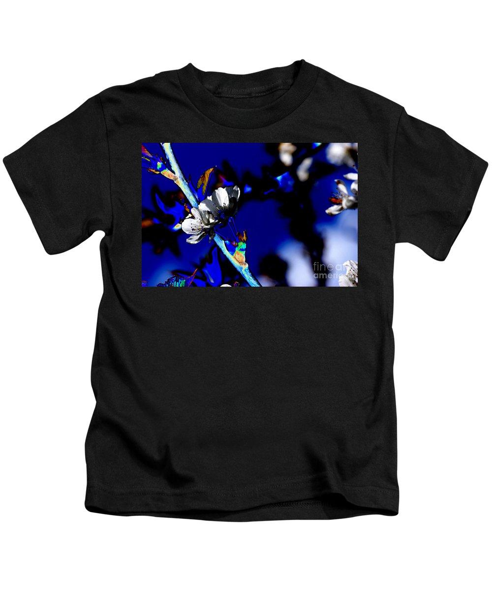 Flowers Kids T-Shirt featuring the digital art Deep Blue by Carol Lynch