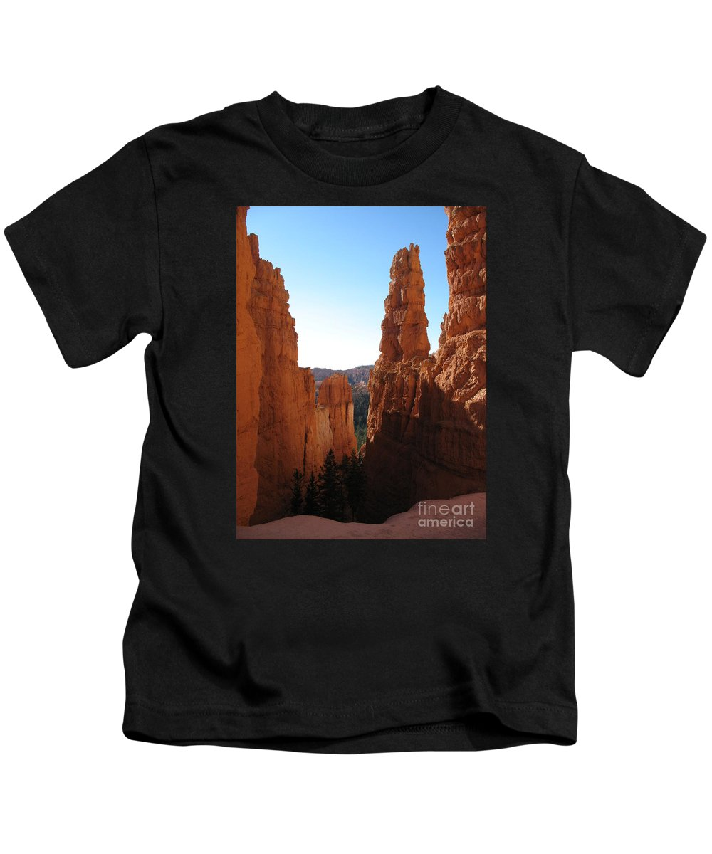 Canyon Kids T-Shirt featuring the photograph Deep Down - Bryce Canyon by Christiane Schulze Art And Photography