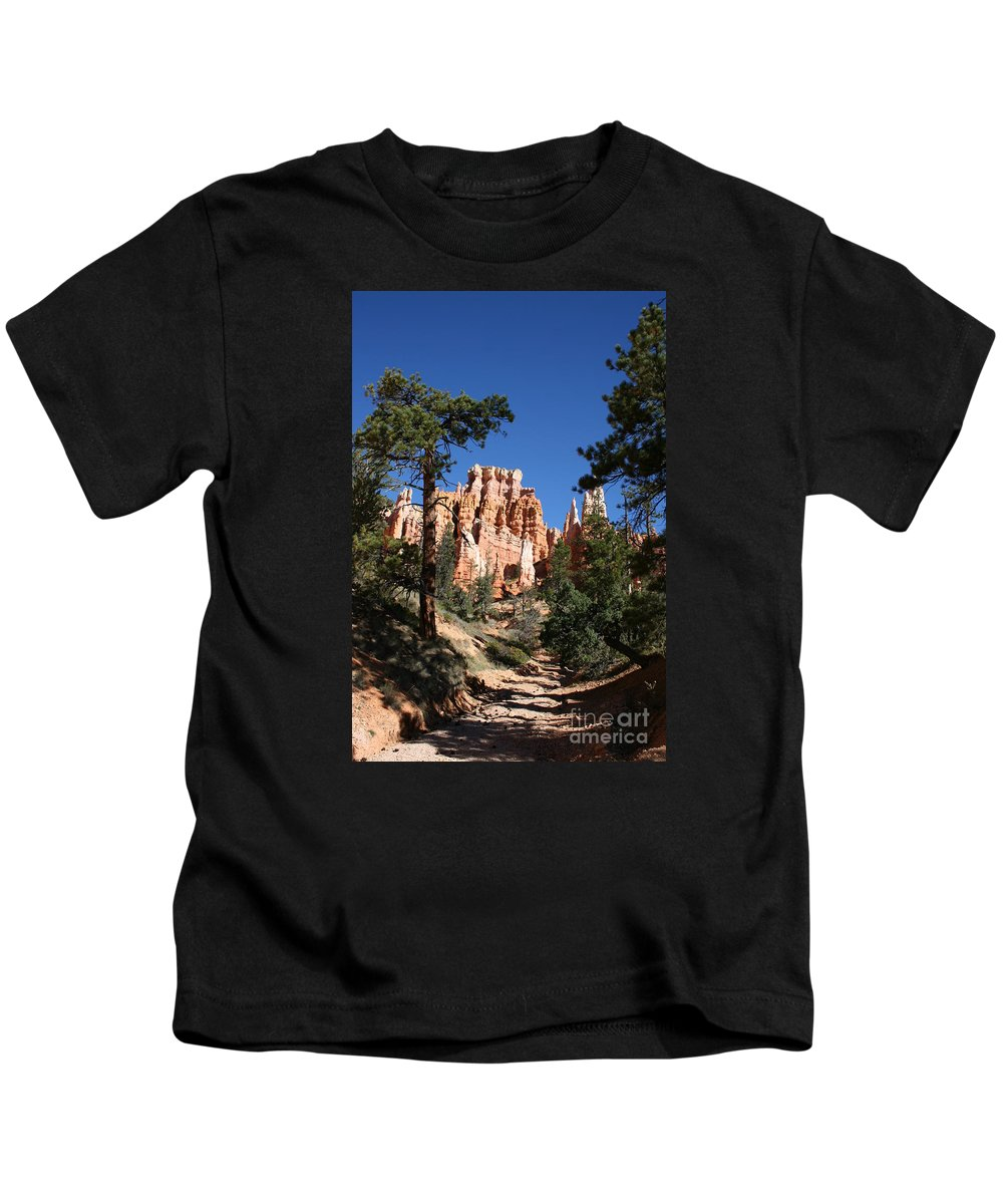 Canyon Kids T-Shirt featuring the photograph Deep In The Bryce Canyon by Christiane Schulze Art And Photography