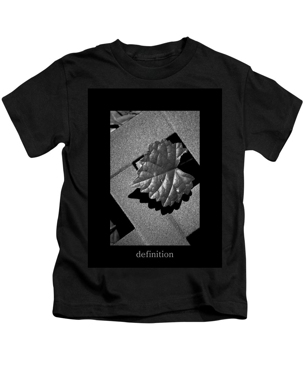 Bw Kids T-Shirt featuring the photograph Definition by David Weeks