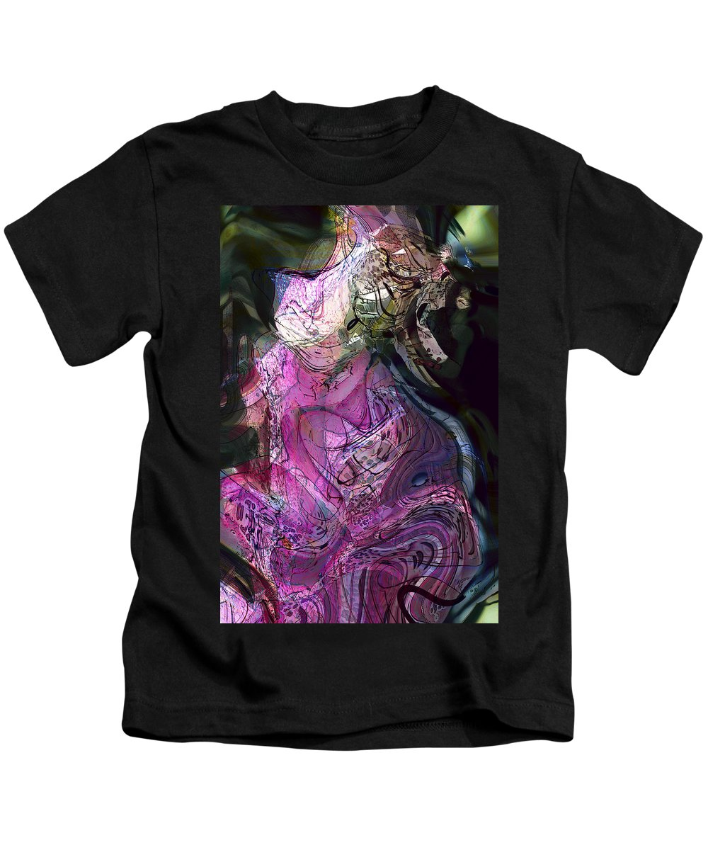 Abstract Kids T-Shirt featuring the digital art Degenerate Inspiration by Richard Thomas