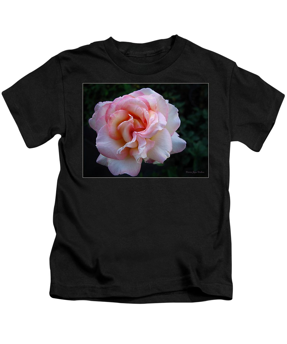 Rose Kids T-Shirt featuring the photograph Delicate Pink by Joyce Dickens