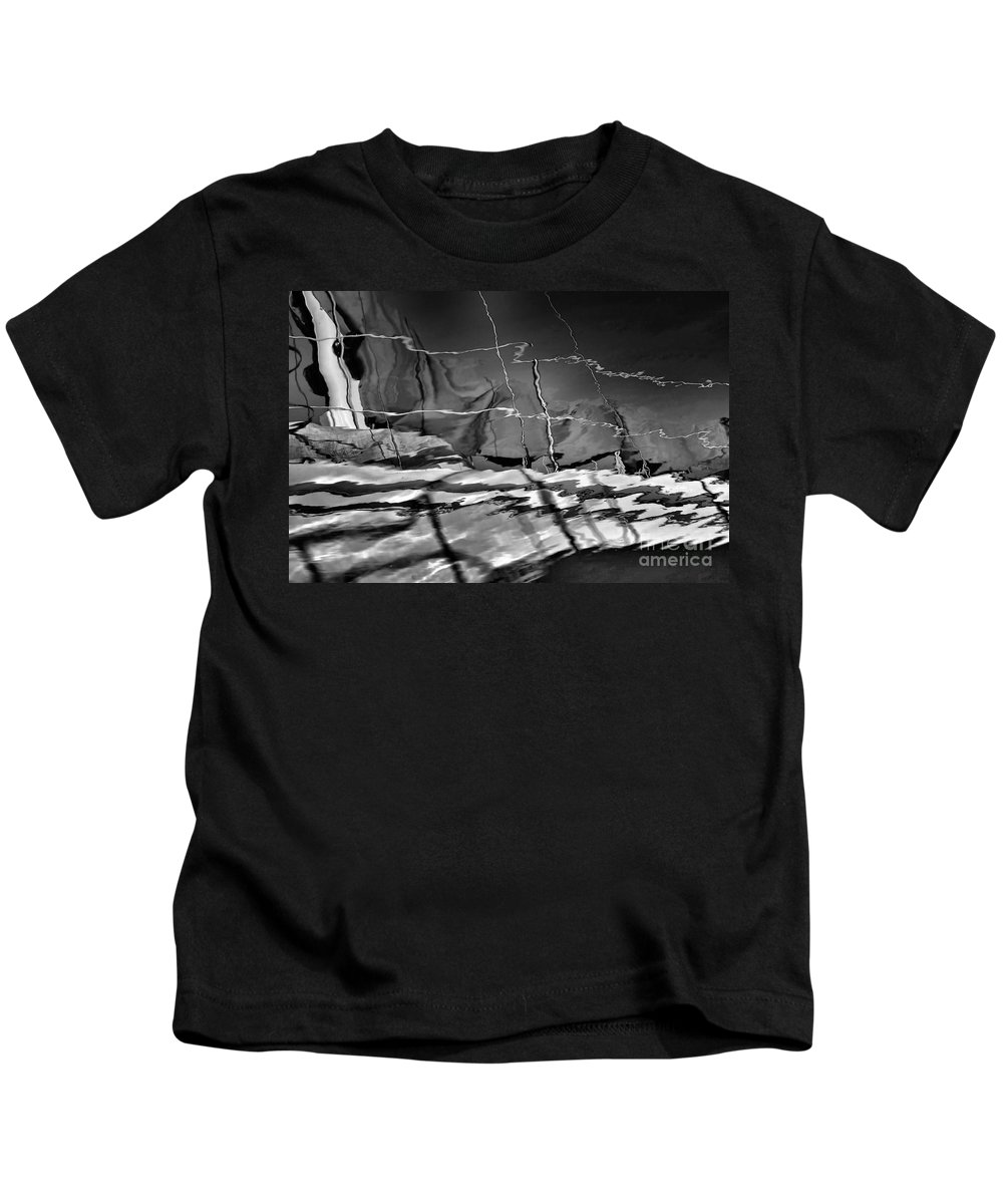 Abstract Kids T-Shirt featuring the photograph Depth In Black by Lauren Leigh Hunter Fine Art Photography