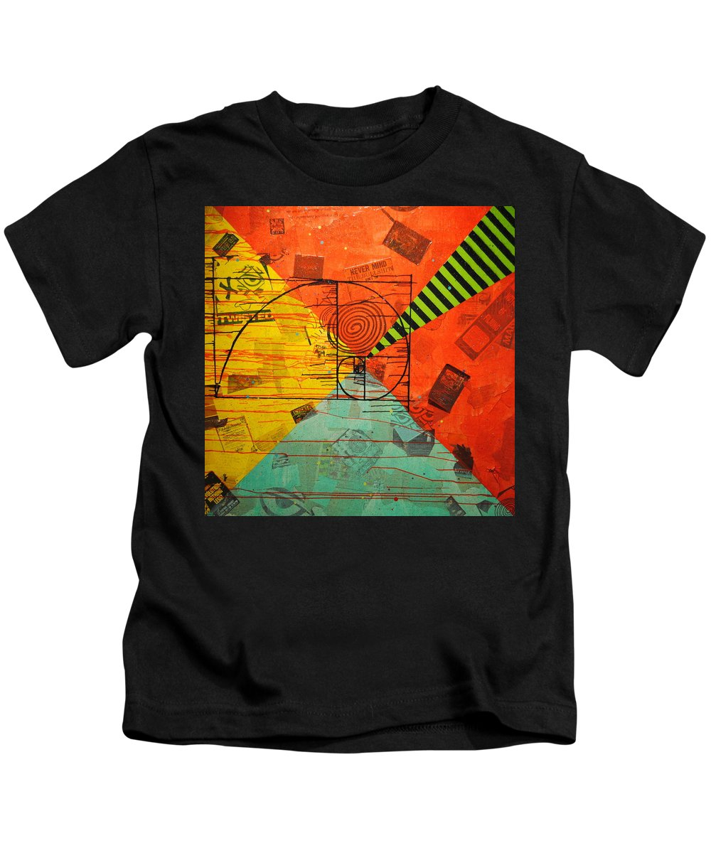 The Golden Ratio Kids T-Shirt featuring the mixed media Depth Of Field by A 2 H D