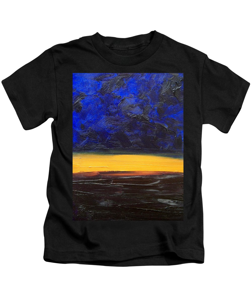 Landscape Kids T-Shirt featuring the painting Desert Plains by Sergey Bezhinets
