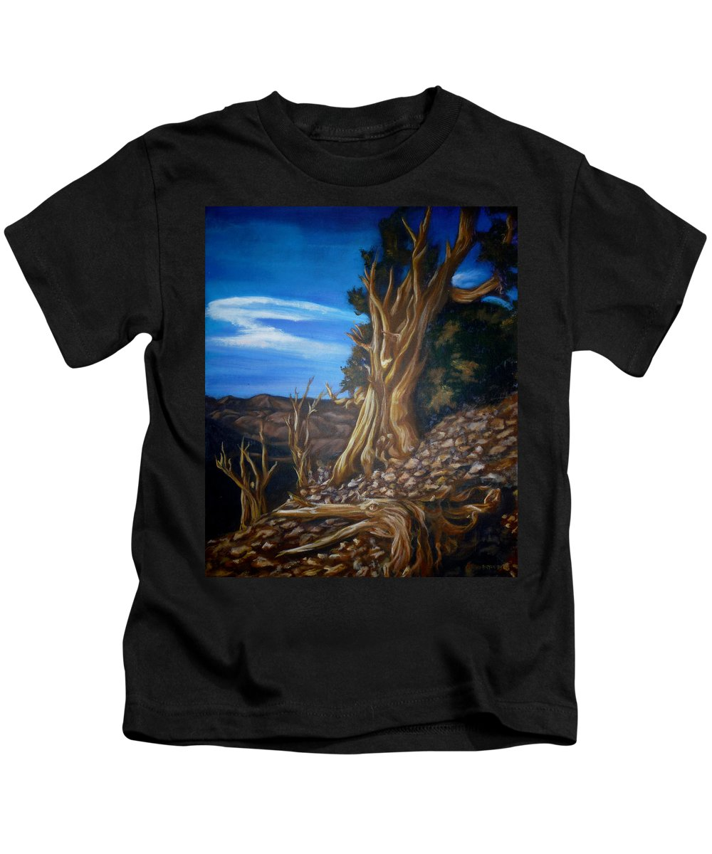 Desert Kids T-Shirt featuring the painting Desert Tree by Bryan Bustard