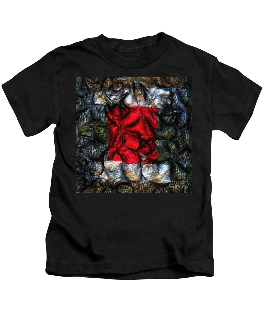 Abstract Kids T-Shirt featuring the painting Desire Squared by RC DeWinter
