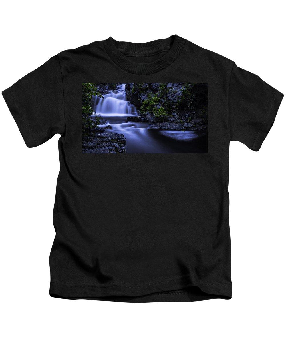 Waterfall Kids T-Shirt featuring the photograph Devil's Hopyard Waterfall by Billy Bateman