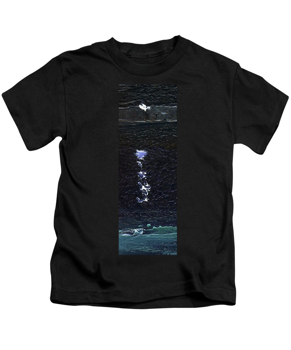 Colour Kids T-Shirt featuring the painting Dingle Quay By Night Detail 2 On The Wild Atlantic Way Of Western Ireland by Catherine Considine