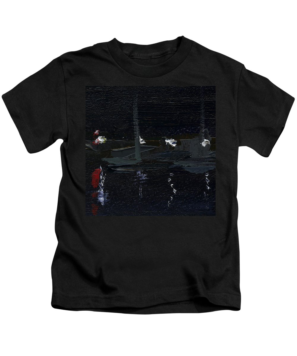 Colour Kids T-Shirt featuring the painting Dingle Quay By Night Detail 5 On The Wild Atlantic Way Of Western Ireland by Catherine Considine