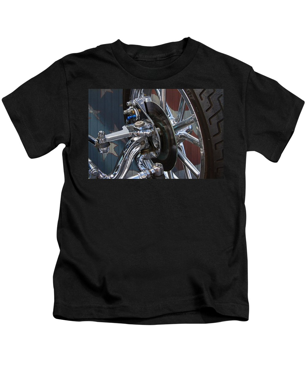 Disc Kids T-Shirt featuring the photograph Disc Brakes Hot Rod by Nick Gray