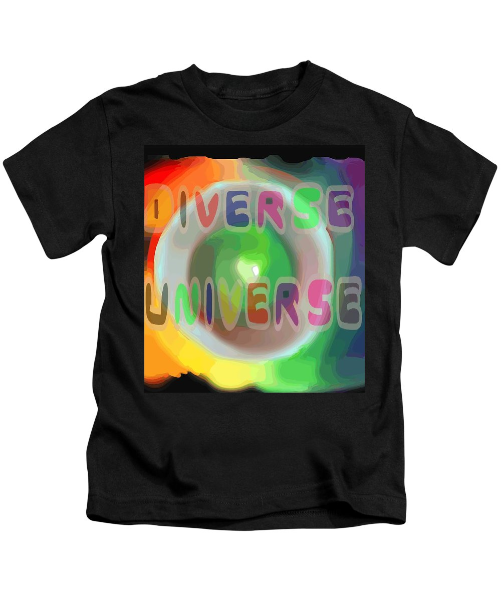 Diverse Kids T-Shirt featuring the painting Diverse Universe by Pharris Art