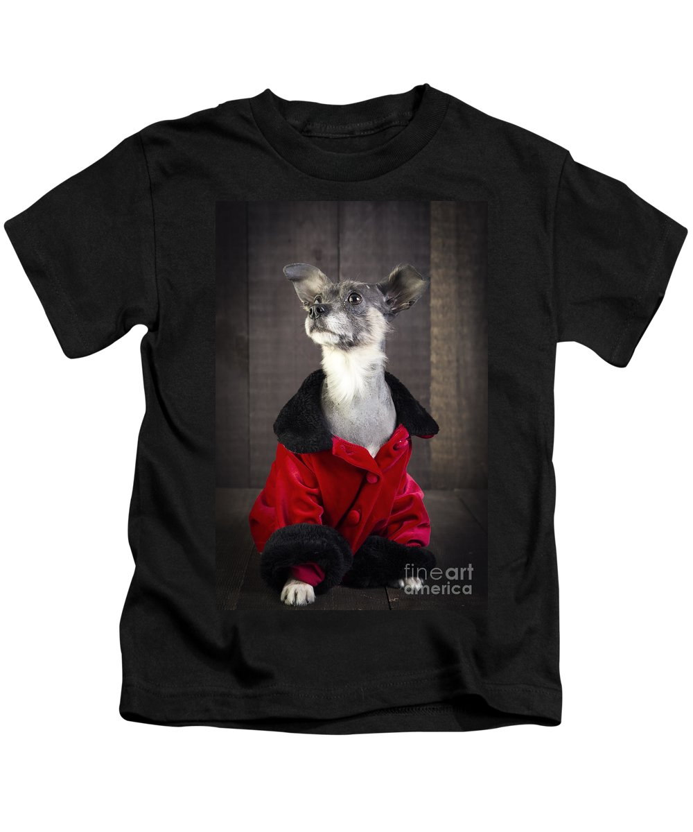 Dog Kids T-Shirt featuring the photograph Divine by Edward Fielding