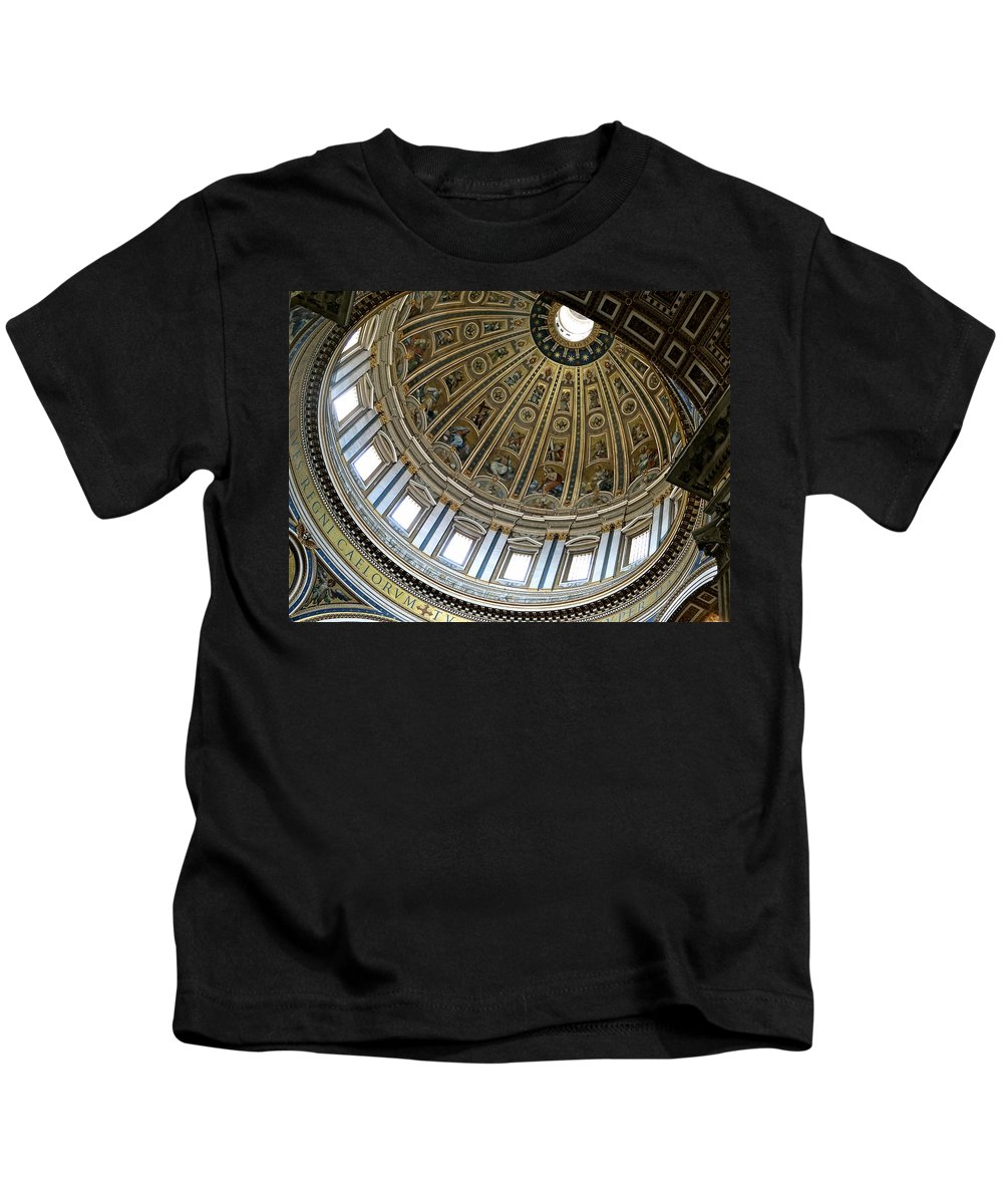 Vatican Kids T-Shirt featuring the photograph Dome Of St. Peter's Rome by Ira Shander