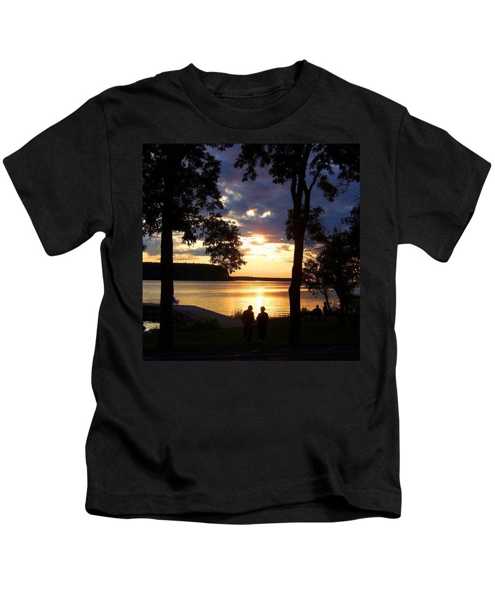 Sunset Kids T-Shirt featuring the photograph Door Peninsula Sunset by David T Wilkinson