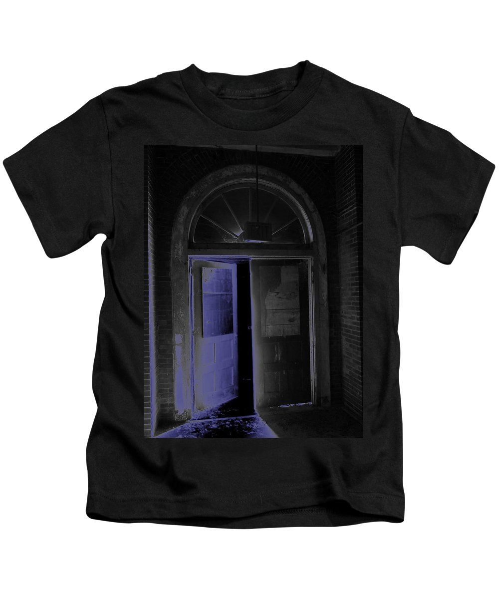 Old Kids T-Shirt featuring the photograph Doorway Into The Dark by Aaron Martens