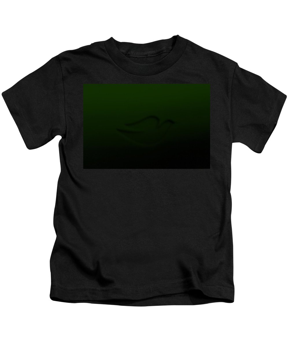 Dove Kids T-Shirt featuring the photograph Dove Dark Olive Green by Rob Hans