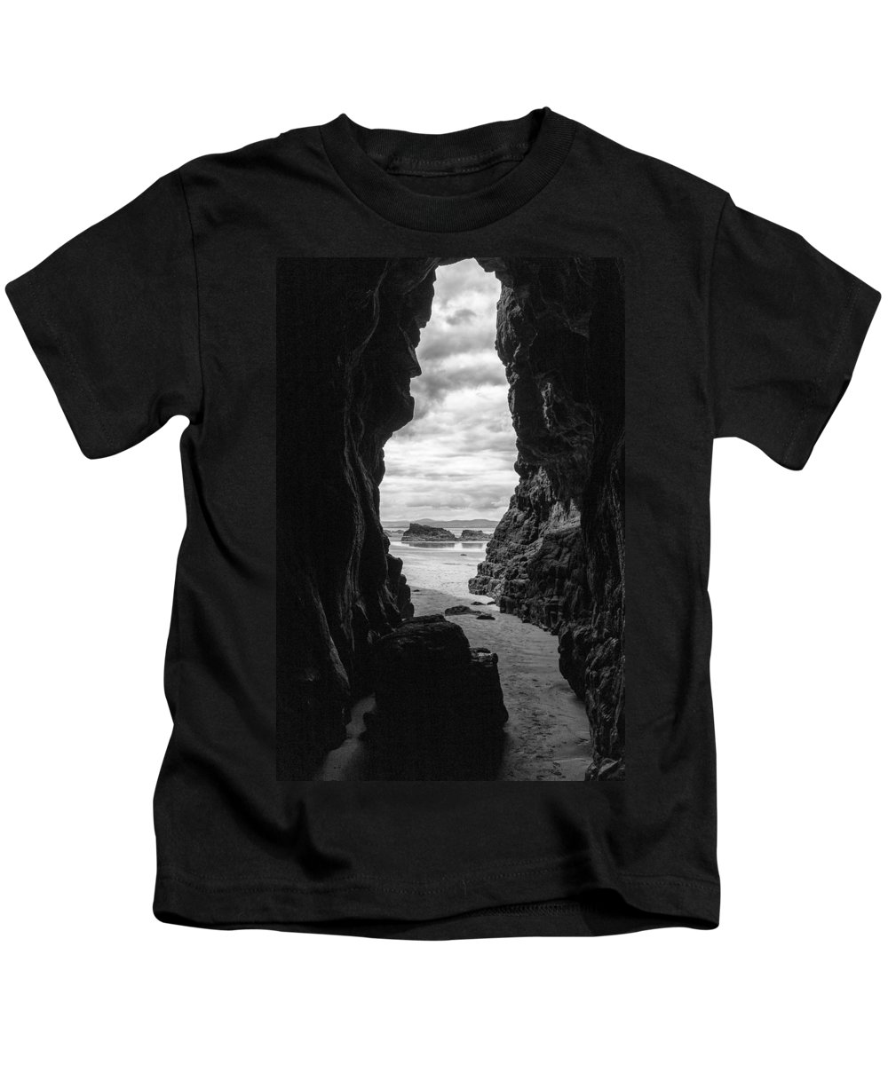 Downhill Kids T-Shirt featuring the photograph Downhill Cave by Nigel R Bell