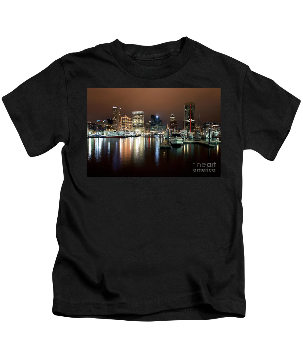 Baltimore Kids T-Shirt featuring the photograph Downtown Baltimore by Bill Cobb