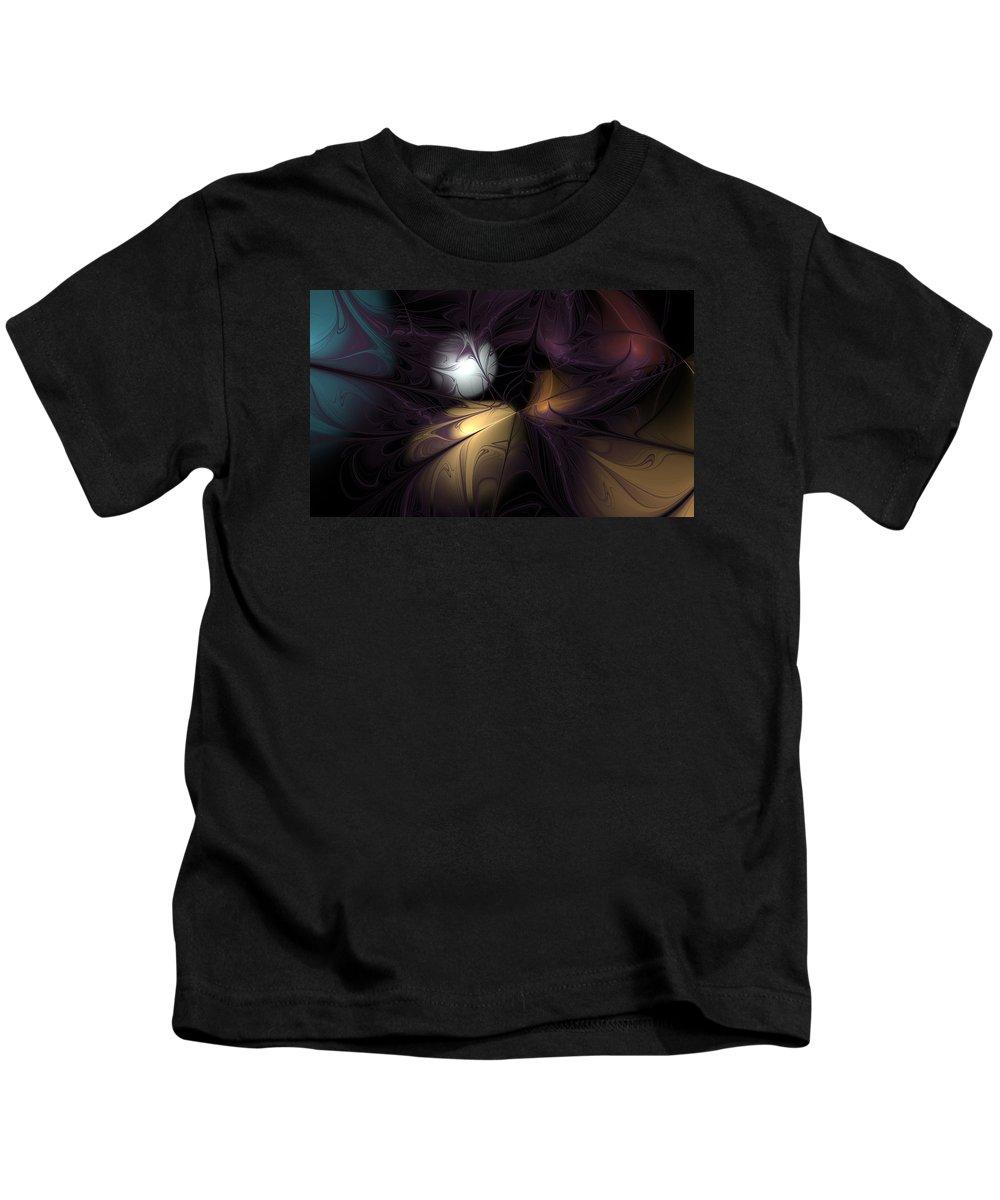 Anne Pearson Kids T-Shirt featuring the digital art Dragonstone by Anne Pearson