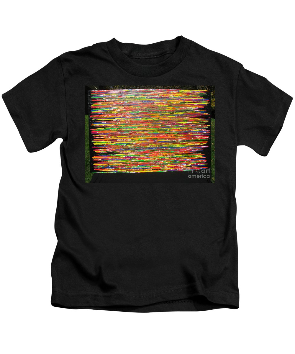 Drama Kids T-Shirt featuring the painting Drama by Jacqueline Athmann