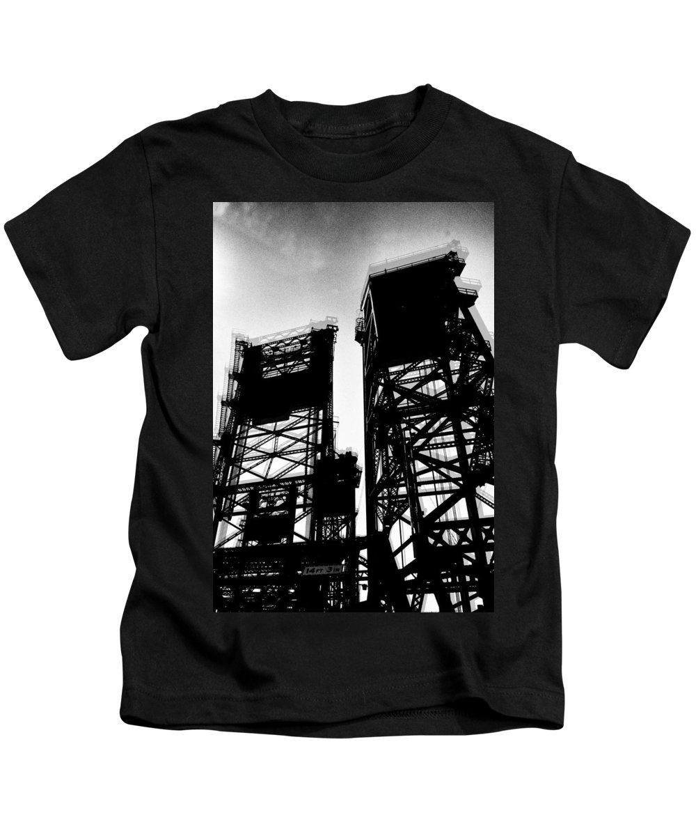 Towers Kids T-Shirt featuring the photograph Drawbridge by H James Hoff