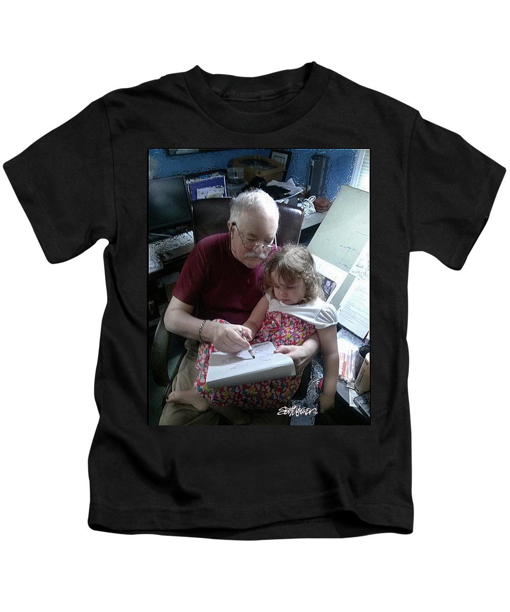 Drawing With Gracie Kids T-Shirt featuring the photograph Drawing With Gracie by Seth Weaver
