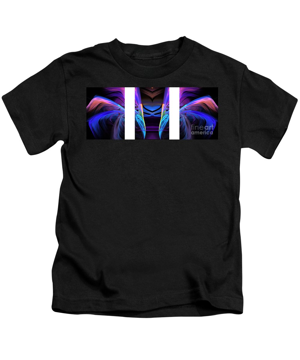 Abstract Kids T-Shirt featuring the photograph Dreamcatcher Triptych by Mike Nellums
