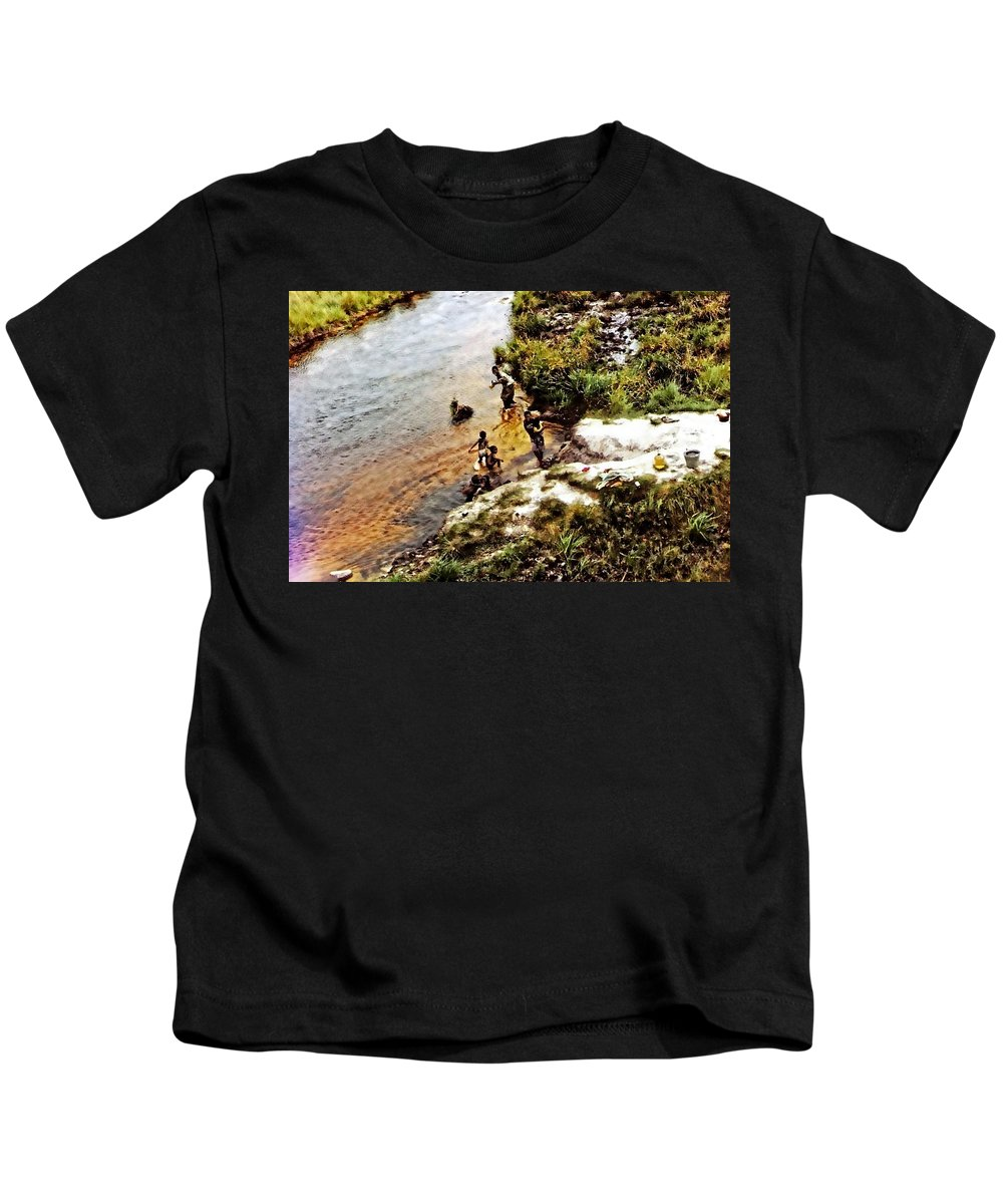 Africa Kids T-Shirt featuring the photograph Drinking Water by Image Takers Photography LLC